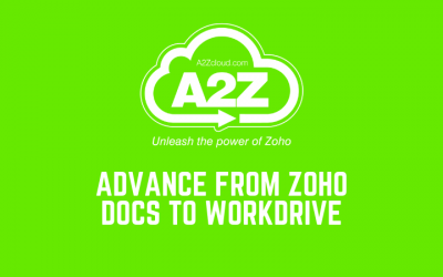 Advance from Zoho Docs to Workdrive