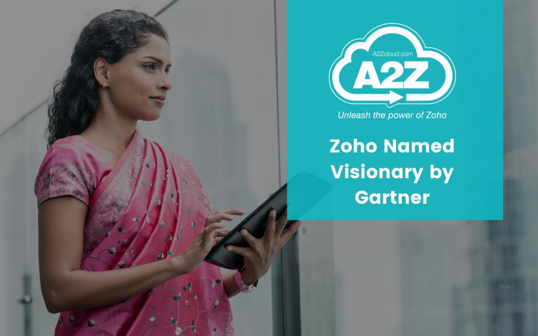 Zoho is Named as Visionary by Gartner