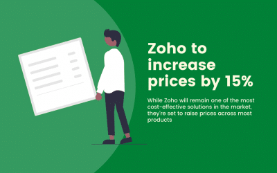 Zoho to increase prices by 15%